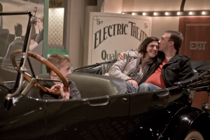Our photographer friend took this snapshot of David, Connor and me at the Henry Ford Museum in Dearborn, Mich. I'm glad Connor wasn't really driving.